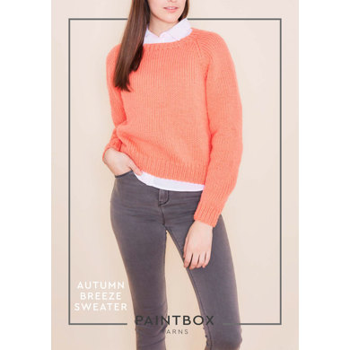 """Autumn Breeze Jumper"" : Jumper Knitting Pattern in Paintbox Yarns Bulky 