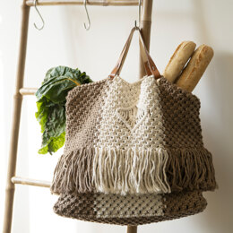Macrame Isola Bag in Hoooked Spesso Eco Barbante Chunky Cotton - Downloadable PDF
