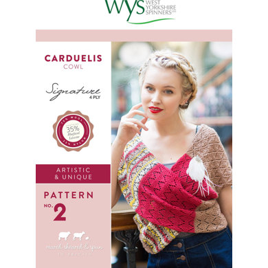 Carduelis Cowl in West Yorkshire Spinners Signature 4 Ply - Downloadable PDF
