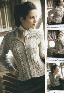Cable and Moss Stitch Cardigan