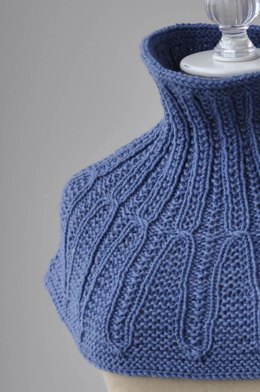 Cayuga Cowl in Universal Yarn Bella Cash Worsted - Downloadable PDF