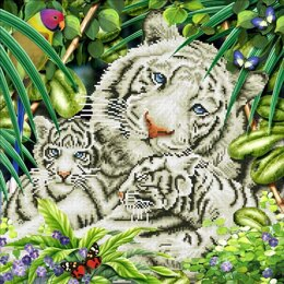 Diamond Dotz White Tiger & Cubs Diamond Dotz Kit