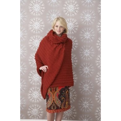 Cabled Wrap in Lion Brand Vanna's Choice - 60716A