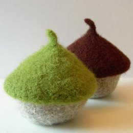 Felted Acorn and Mushroom Catch-all