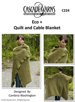Quilt and Cable Blanket in Cascade Eco+ - C224