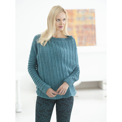 Asymmetric Ribbed Sweater in Lion Brand Heartland - L32181
