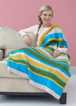 Summer Stripes Afghan in Lion Brand Vanna's Choice - L10491