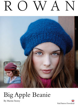 Big Apple Beanie in Rowan Creative Focus Worsted - D138 - Downloadable PDF