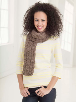 Ridge Ribbed Scarf in Lion Brand Wool-Ease Thick & Quick - L32410