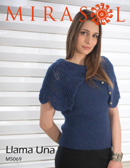 One Piece Capelet Shell in Mirasol Llama Una - M5069
