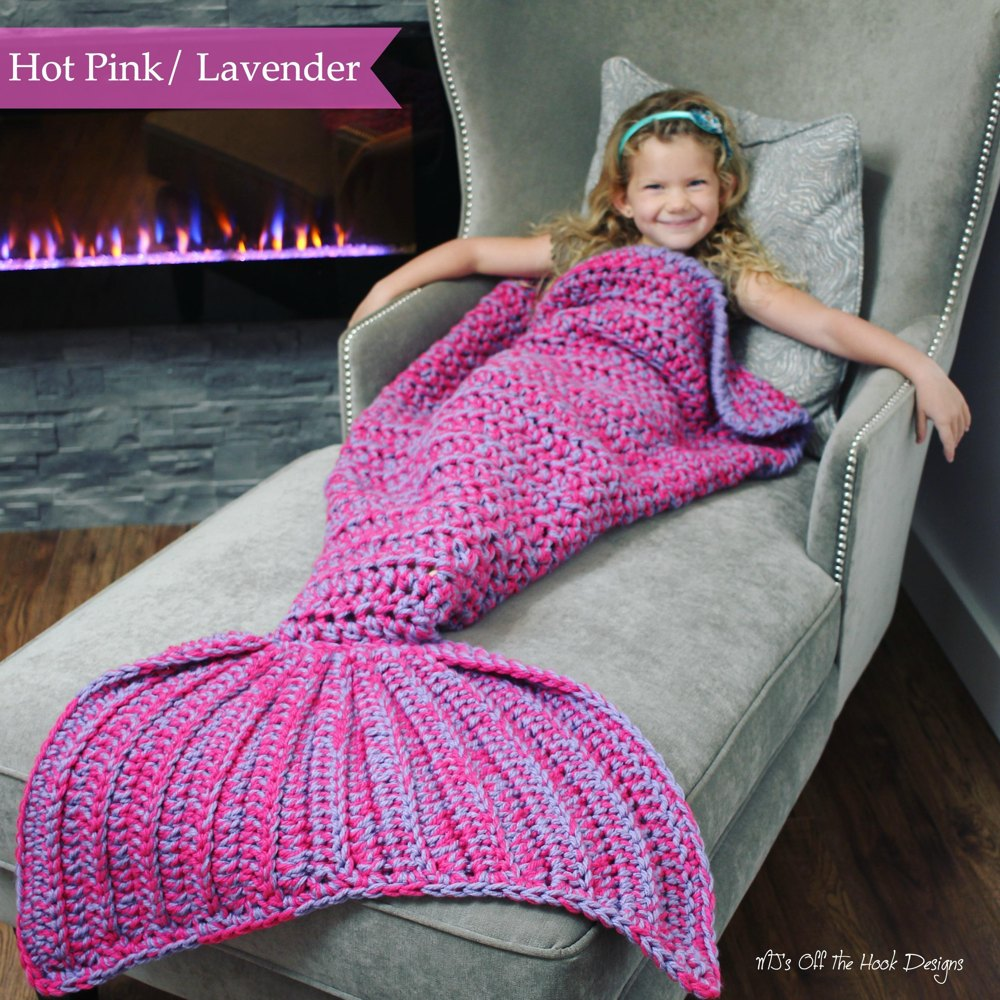 Bulky & Quick Mermaid Blanket Crochet pattern by MJsOffTheHook
