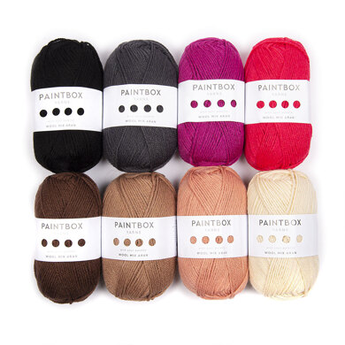 Paintbox Yarns Rihanna Punch Needle Portrait 8 Ball Colour Pack