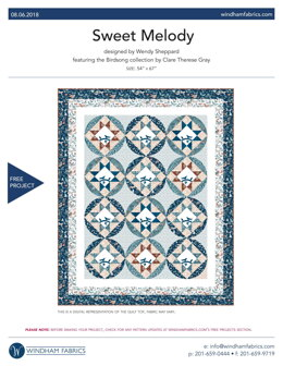 Windham Fabrics Sweet Melody - Downloadable PDF