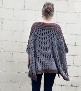 Crochet Poncho Pattern: Easy-Peasy Two Rectangle Poncho