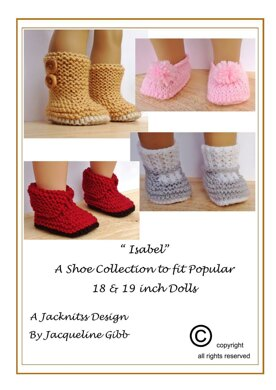 """33 Shoe Collection for 18"""" Dolls"""