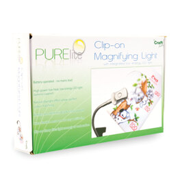Purelite Small Clip-On Magnifier with LED Light