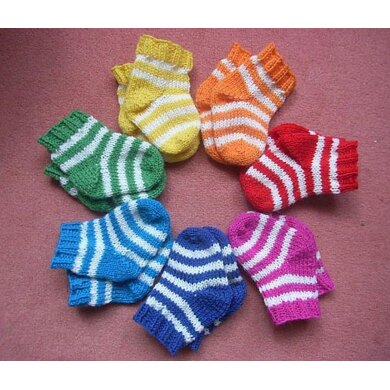 Tiny stripes (baby socks)