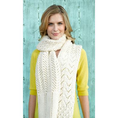 Barbizon Lace Scarf in Lion Brand Alpine Wool - 90648AD