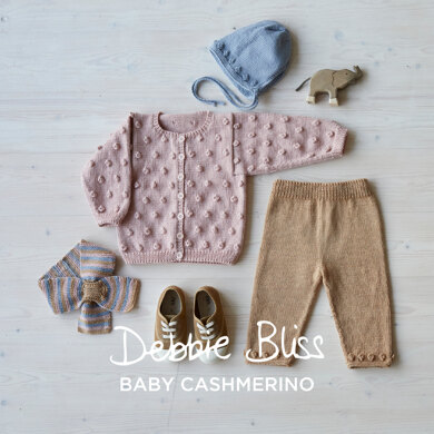 Bobbalicious - Layette Knitting Pattern For Toddlers in Debbie Bliss Baby Cashmerino by Debbie Bliss