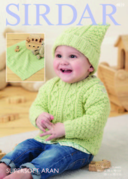 Sweater, Hat and Blanket in Sirdar Supersoft Aran - 4829