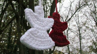 Snow Angel Ornament Crochet Pattern By Snowfall And Sunrise