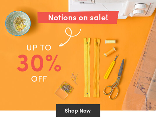 Up to 30 percent off sewing & quilting accessories!
