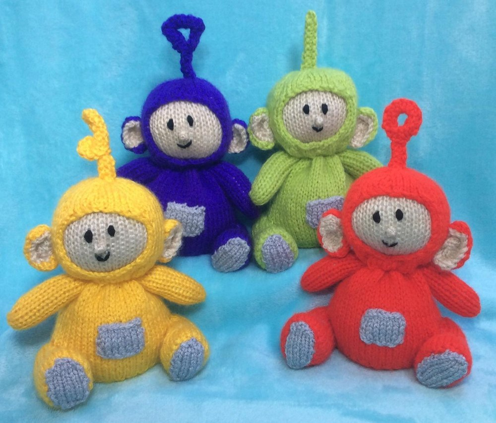 Teletubbies Knitting Pattern : Teletubbies Choc Orange Cover / Toy Knitting pattern by Andrew Lucas