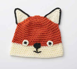Fox Hat in Caron Simply Soft - Downloadable PDF