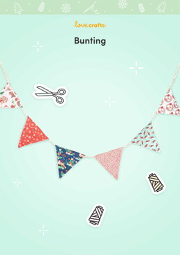 LoveCrafts Bunting Pattern -  Downloadable PDF