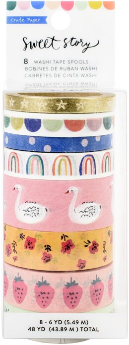 American Crafts Maggie Holmes Sweet Story Washi Tape 8/Pkg - 6 Yards Each