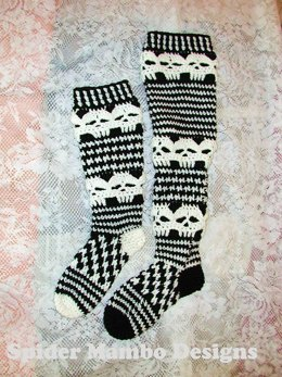 Creepy Skull Knee Socks