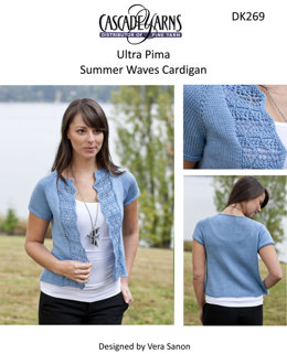 Summer Waves Cardigan in Cascade Ultra Pima - DK269