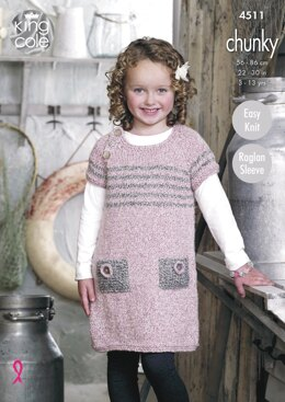 Tunic and Sweater in King Cole Chunky - 4511 - Downloadable PDF