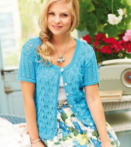 Ladies' Lace Cardigan in Rico Essentials Cotton DK - 152
