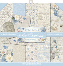 "Stamperia Intl Stamperia Double-Sided Paper Pad 12""X12"" 10/Pkg - Old England, 10 Designs/1 Each"