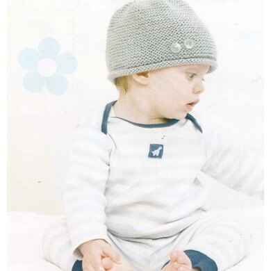 Garter Stitch Hat and Booties