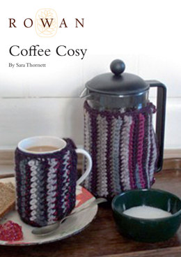 Coffee Cosy Cover in Rowan Cocoon