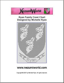 Ryan Family Crest Chart (Uses American Crochet Terms)