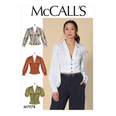 McCall's Misses' Tops M7978 - Sewing Pattern