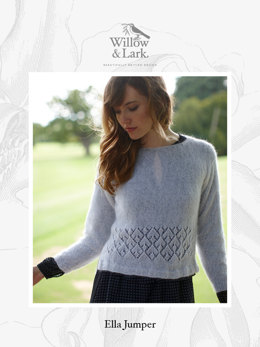Ella Jumper in Willow & Lark Plume - Downloadable PDF