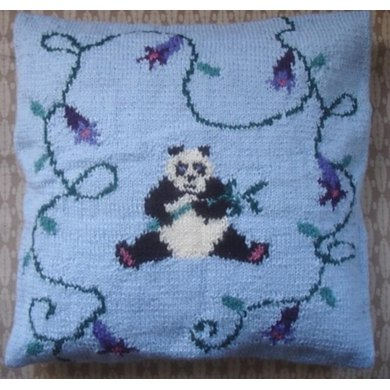 Panda in the Flowers cushion cover