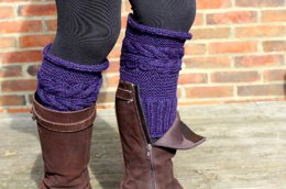 Corn Rows Cabled Boot Toppers