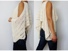 Open Shoulder Cropped Sweater