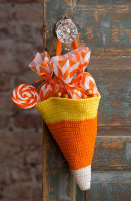 Candy Corn Bag in Red Heart Super Saver Economy Solids - LW4884 - Downloadable PDF