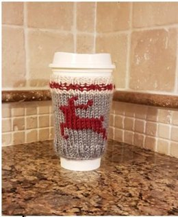 Rudolph Work Sock Cozy Coffee Cup Sleeve