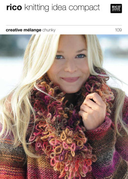 Neck and Wrist Warmers in Rico Creative Melange Chunky - 109