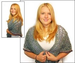 Crochet Tea and Sympathy' Shawl in Lion Brand Homespun - 50538-C