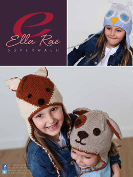 Beanie Set 2 in Ella Rae Superwash Classic - ER16-02 - Downloadable PDF