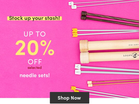 Up to 20 percent off needle sets!