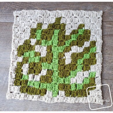C2C Monstera Afghan Square